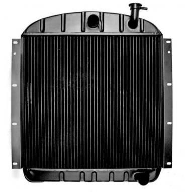 """OER 1955-59 GMC with Pontiac V8 and AT 4 Row Copper/Brass Radiator (22-3/8"""" x 23-1/2"""" x 2-5/8"""" Core) CRD1955A"""