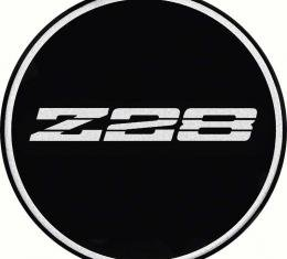 "OER 2-15/16"" R15 Wheel Center Cap Emblem with Chrome Z28 Logo and Black Background K151763BK"