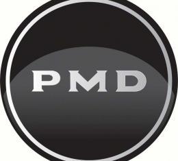 """OER R15 Wheel Center Cap Emblem 2-15/16"""" Diameter Chrome PMD Logo/Black Background K151798"""