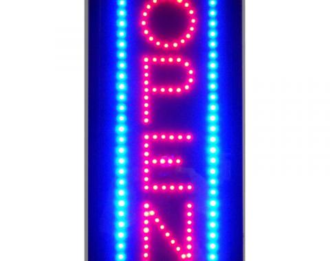 Neonetics Led Motion Signs, Open Vertical Led Sign