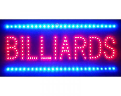 Neonetics Led Motion Signs, Billiards Led Sign
