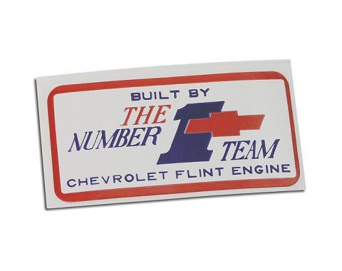 Corvette Decal, Valve Cover Flint #1, 1967