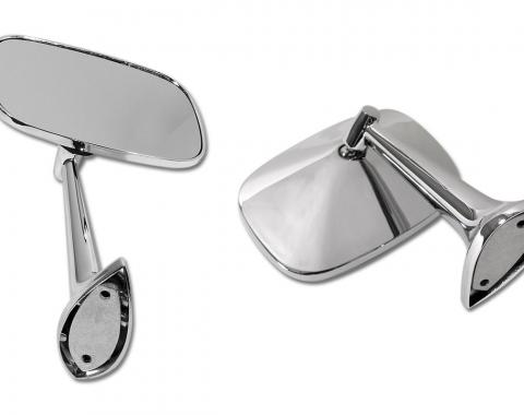 Corvette Outside Mirrors, with Mounting Kits, 1968-1974
