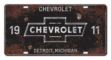 Chevrolet License Plate, 1911 Detroit Michigan