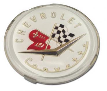 Corvette Emblem, Front & Rear NOS, 1956-1957